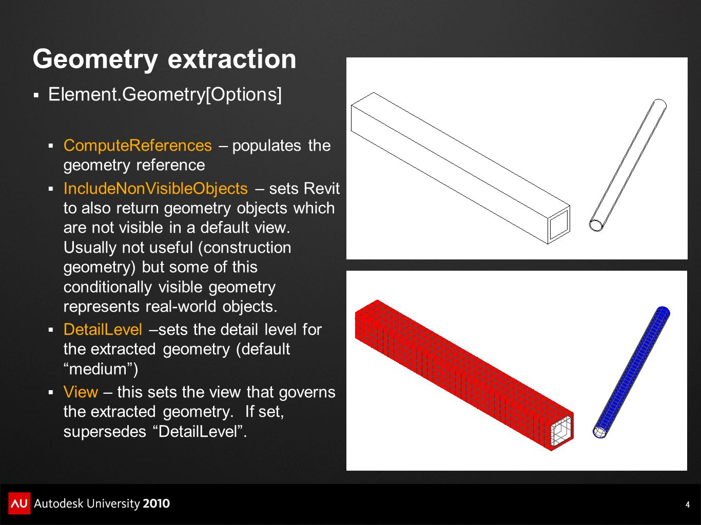 Geometry extraction Element.Geometry[Options]